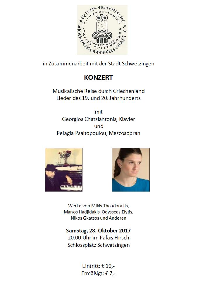 Plakat, Konzert 28. Oktober 2017